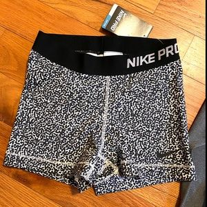 Nike Pro shorts animal print size small